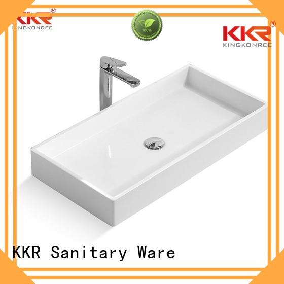 oval white kkr above counter basins surface KingKonree Brand