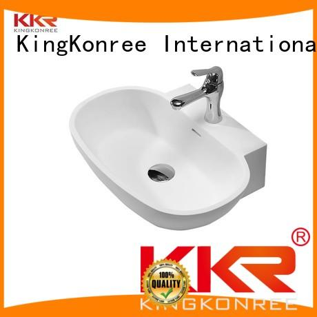 oval above counter basin oval white Warranty KingKonree