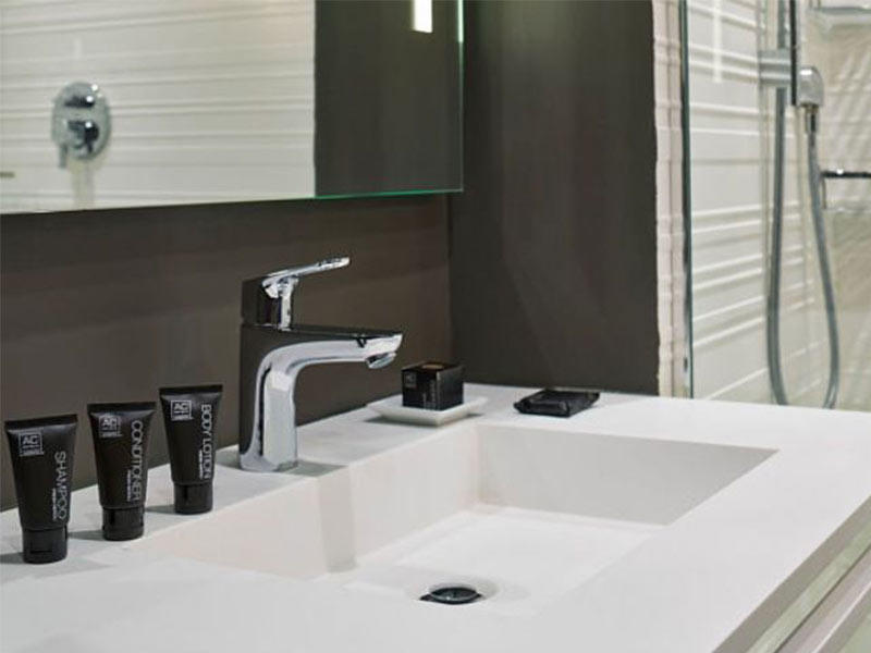 Solid Surface Bathroom Vanities for AC hotel
