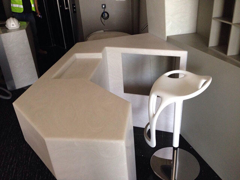 Translucent Solid Surface Counters for W Hotel in Dubai