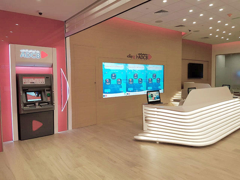 KKR Solid Surface Reception Desk for uBank Projects