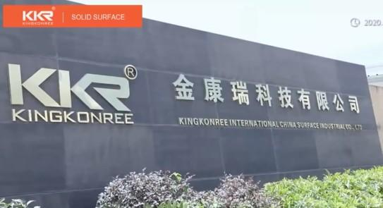 Kingkonree Professional Iso 9001 Audited Solid Surface Products Manufacturer