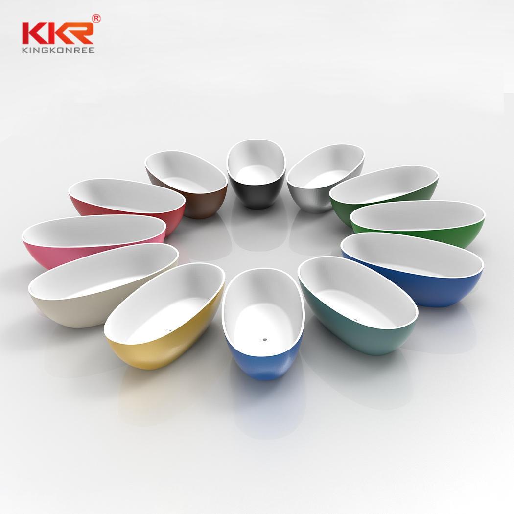 Eco-friendly oval design custom solid surface bathtub