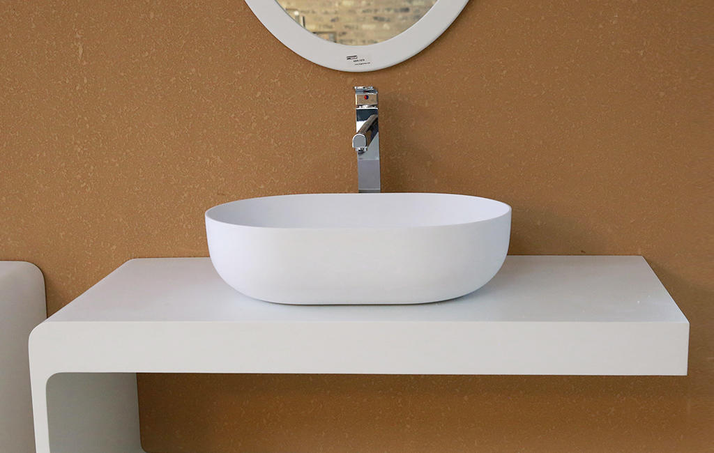 marble small countertop basin manufacturer for room-1