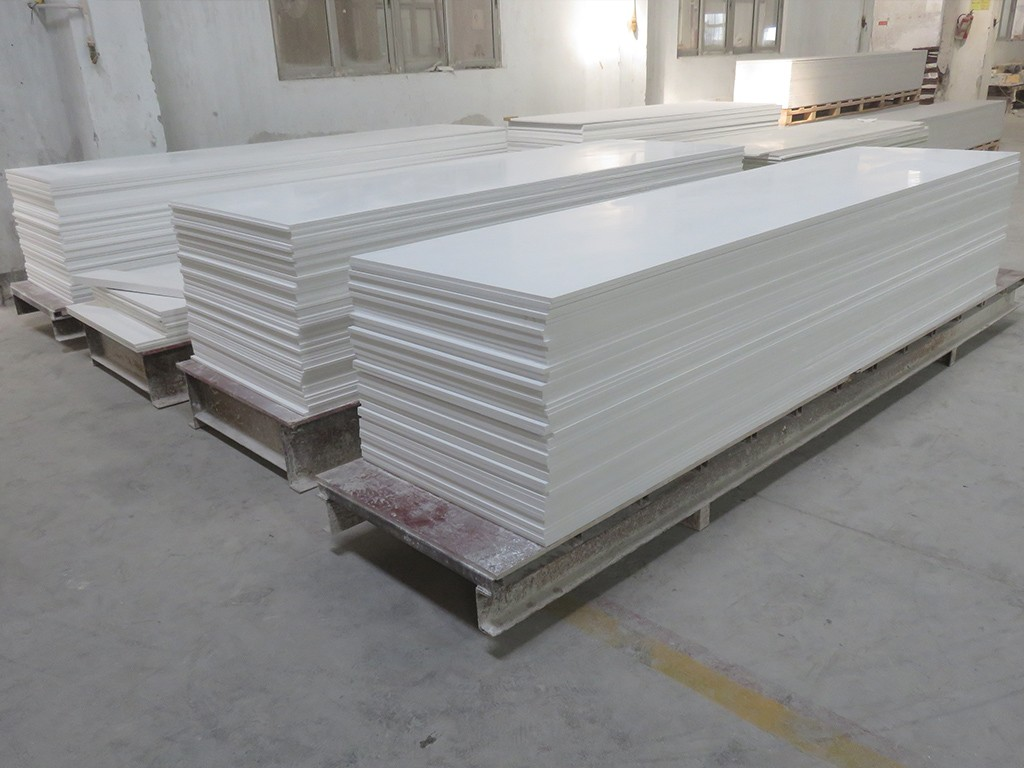 Pure White Modified Acrylic Solid Surface Sheet KKR-M1700-10