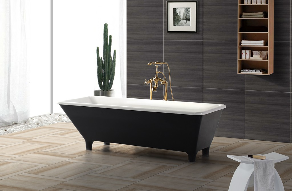practical freestanding soaking bathtub free design for bathroom-1