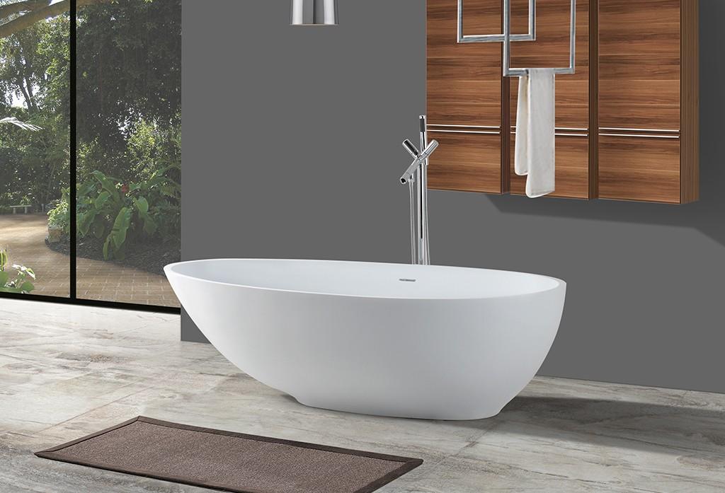 KingKonree marble modern soaking tub at discount for hotel-1