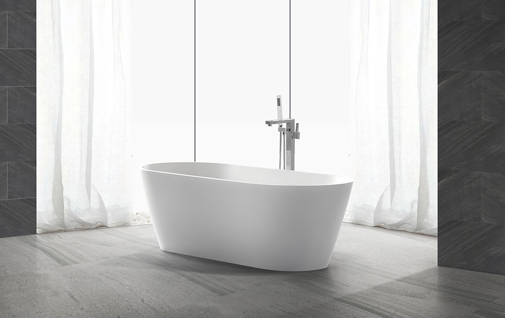 matt small freestanding soaking tub at discount for hotel-1