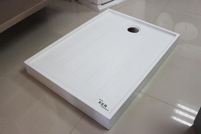 KingKonree stone resin shower tray design for bathroom-1