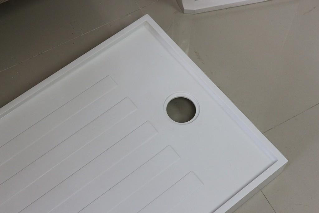 KingKonree stone resin shower tray design for bathroom-2