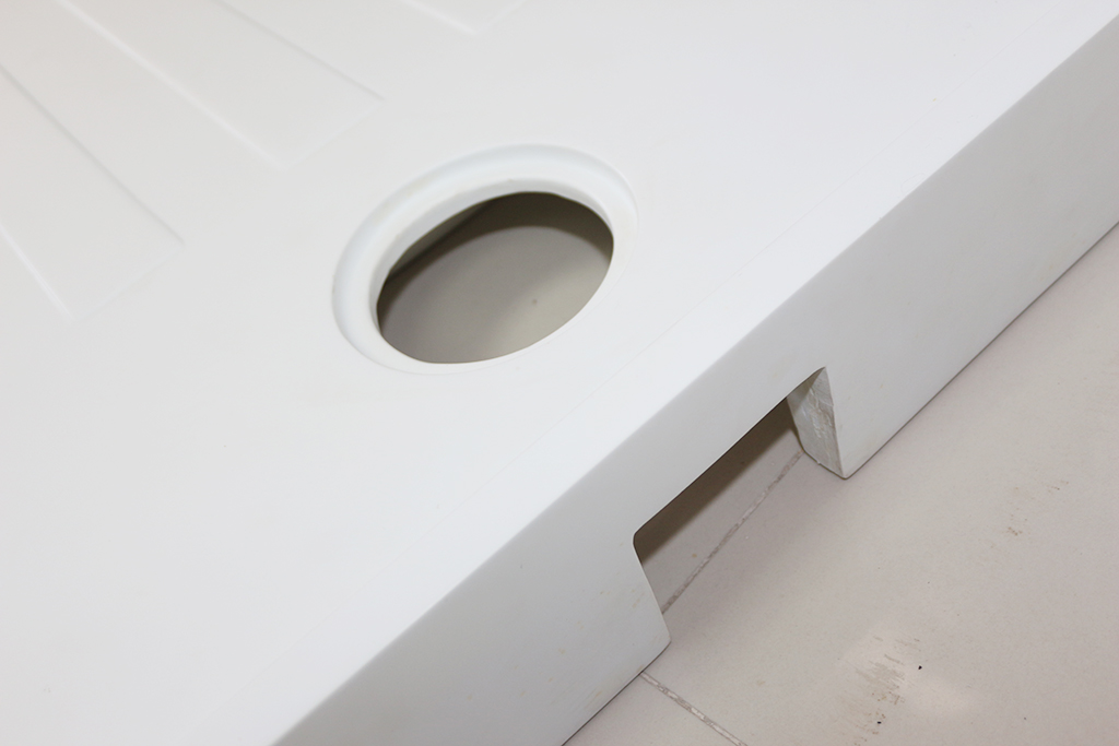 KingKonree stone resin shower tray design for bathroom-3