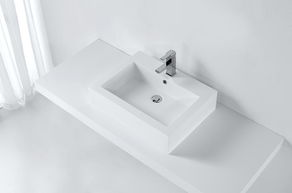 KingKonree solid surface basin highly-rated for hotel-1