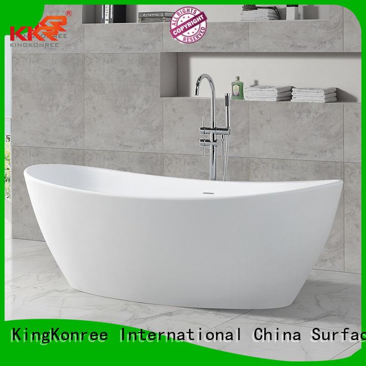 b008 bath round Solid Surface Freestanding Bathtub KingKonree Brand