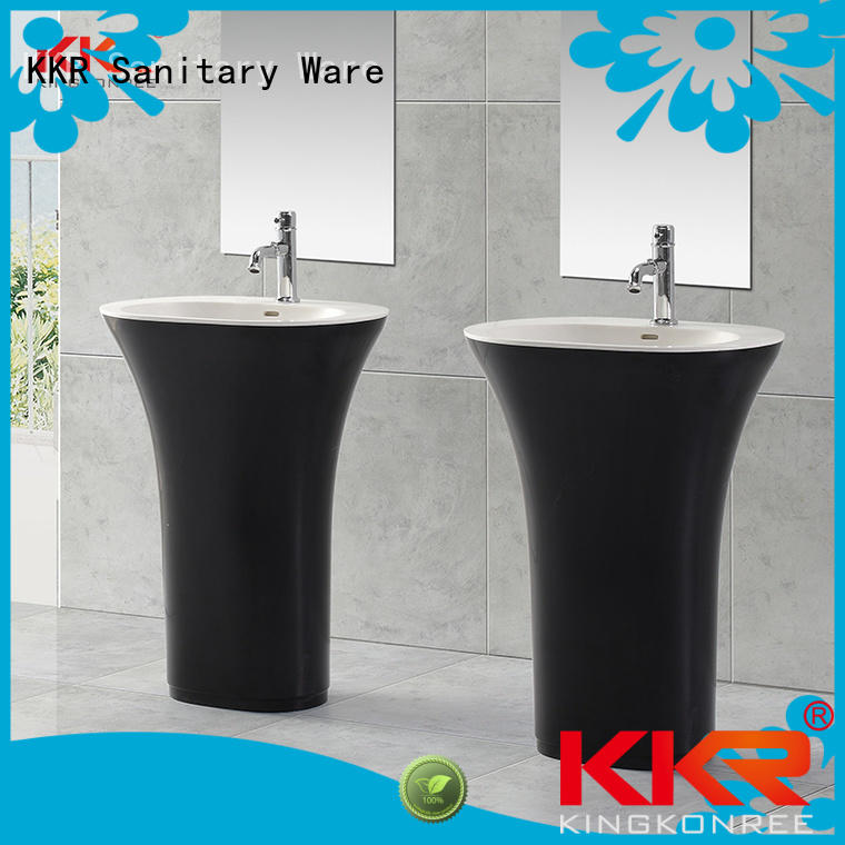 Wholesale white bathroom free standing basins unique KingKonree Brand