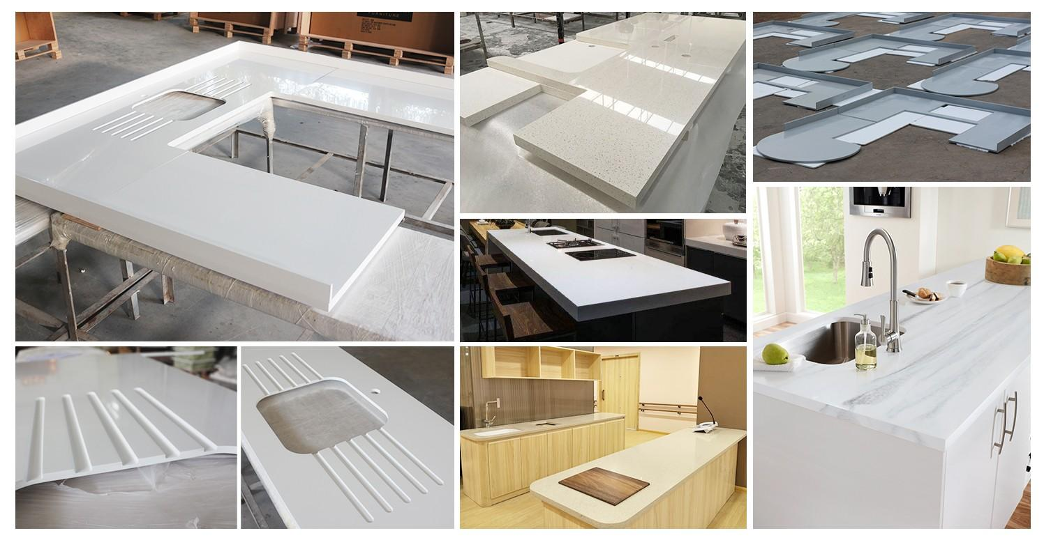 KingKonree quartz stone solid surface worktops supplier for hotel-1