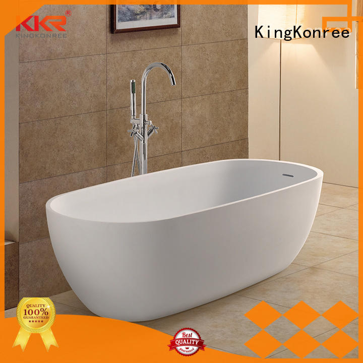 Five Star Hotel Standard Acrylic Solid Surface Freestanding Bathtubs KKR-B027