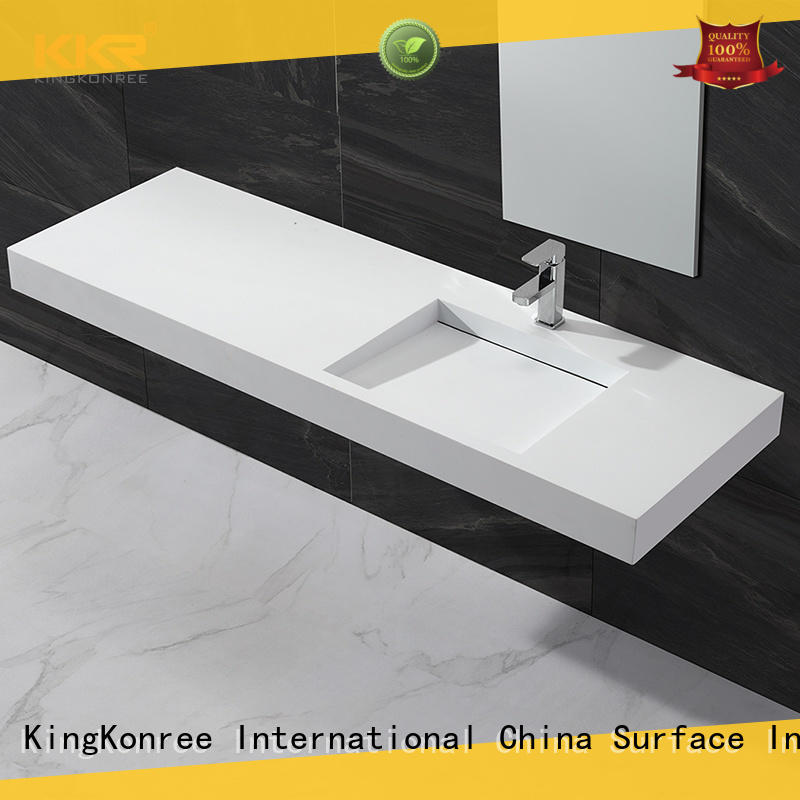 KingKonree mounted wall hung cloakroom basin manufacturer for hotel