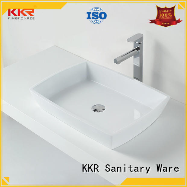 best material solid surface basin highly-rated for family