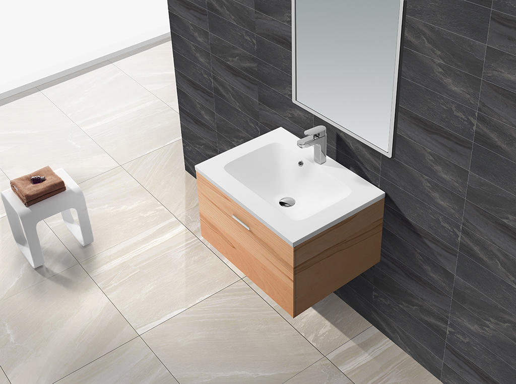 Sanitary ware luxurious solid surface cabinet basin KKR-1523-1