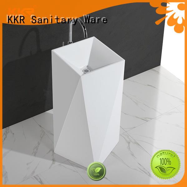 KingKonree durable round freestanding basin marble for motel
