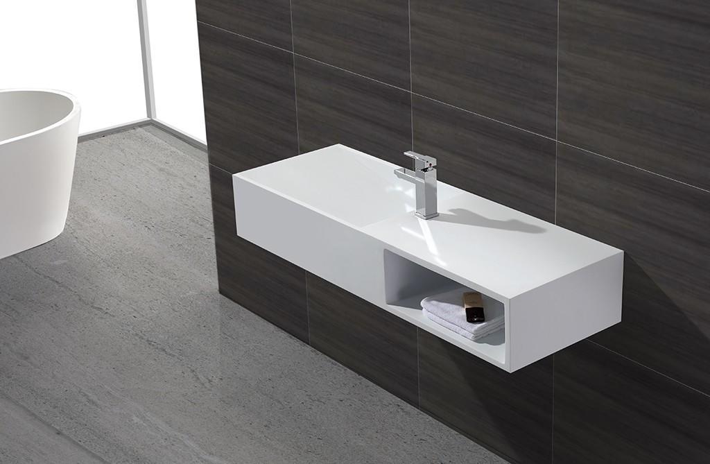 KingKonree wall hung bathroom basins sink for hotel-1