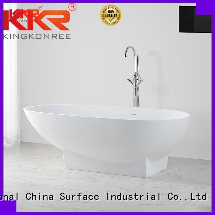 KingKonree Brand length artificla big atrifial solid surface bathtub