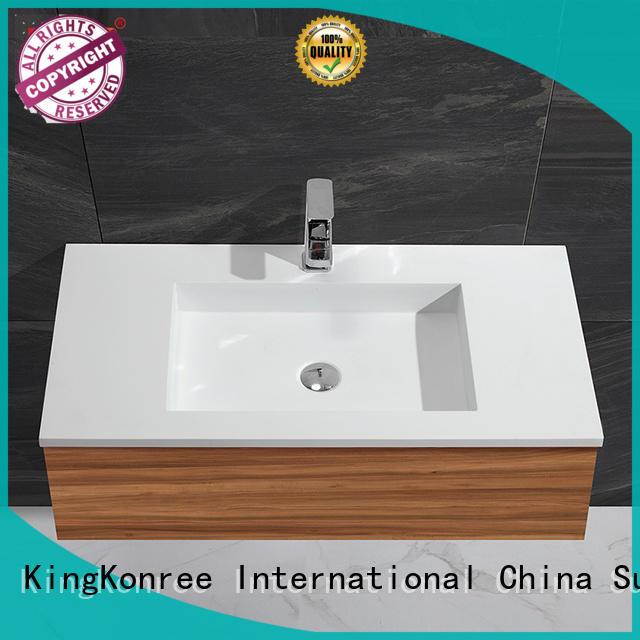 KingKonree marble corner basin and cabinet dark for bathroom