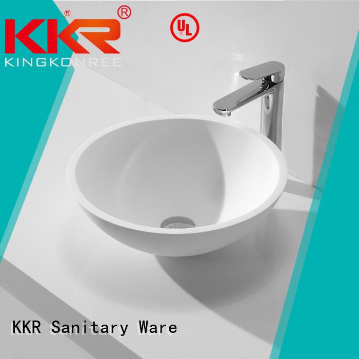KingKonree Brand acyrlic kkr custom oval above counter basin