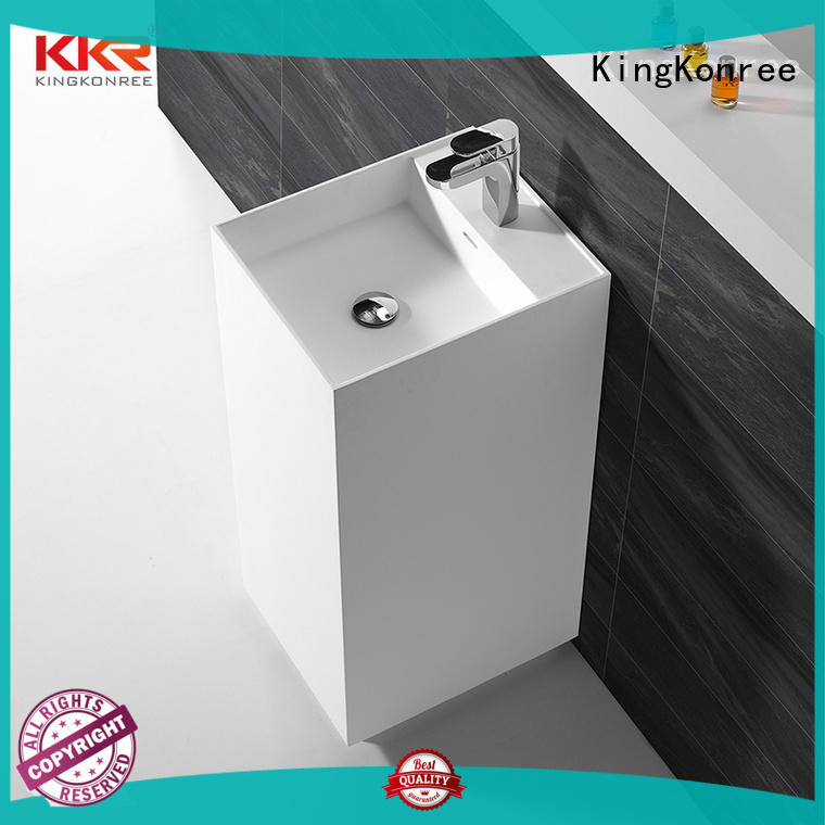 KingKonree rectangle freestanding basin customized for hotel