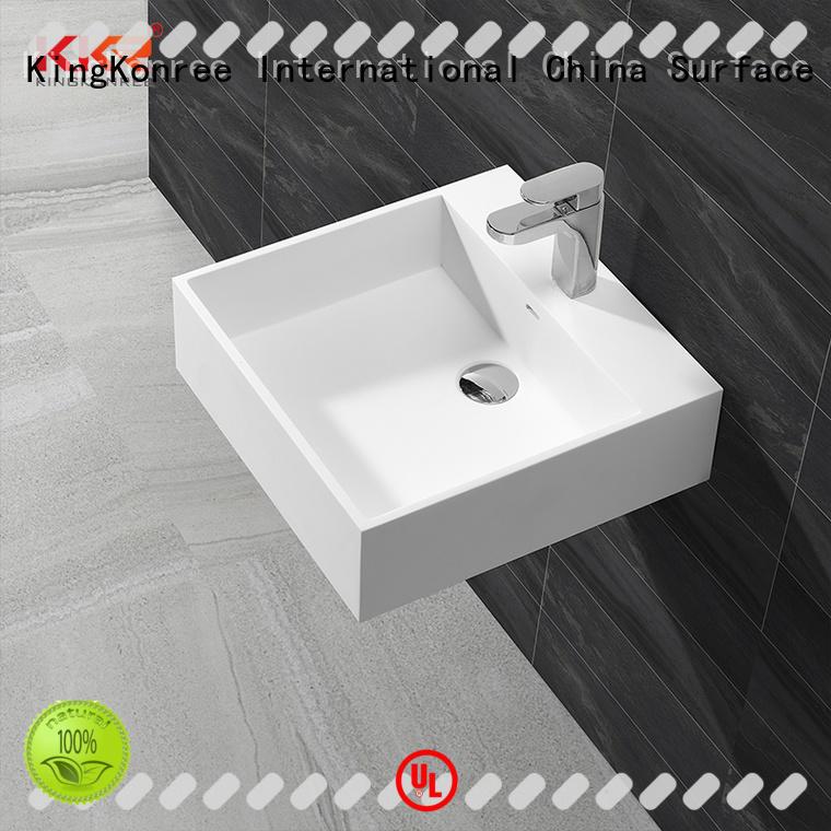artículos de baño de lavabo suspendidos estrechos para hotel KingKonree