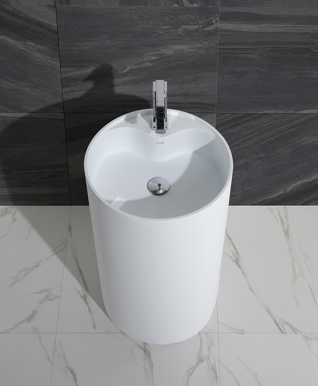 KingKonree standard free standing wash basin supplier for bathroom-1