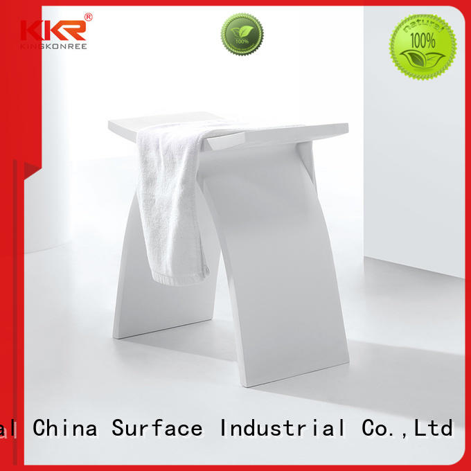 Design White Acrylic Solid Surface Bathroom Stool KKR-Stool-A
