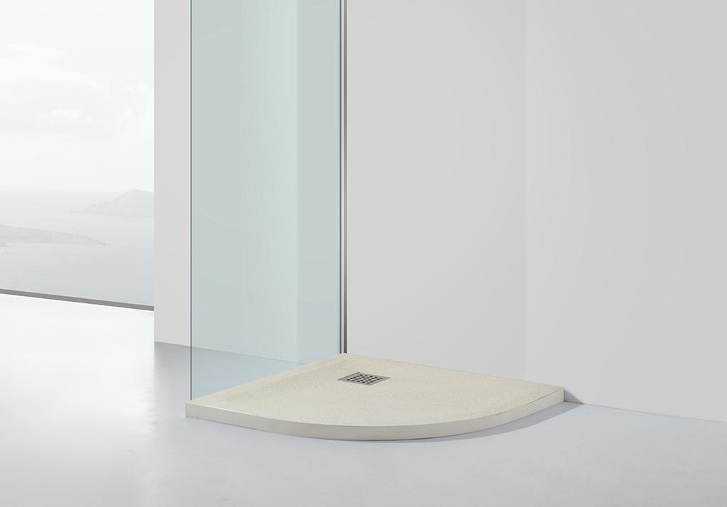 KingKonree quarter circle long shower tray at -discount for bathroom-1
