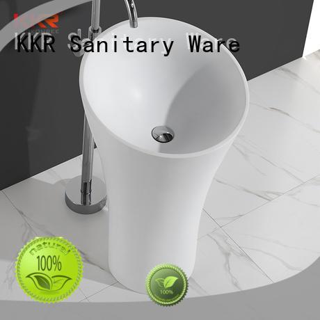 KingKonree pan shape free standing wash basin factory price for hotel