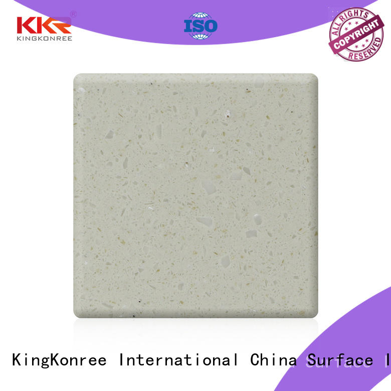 KingKonree red solid surface material manufacturer for restaurant
