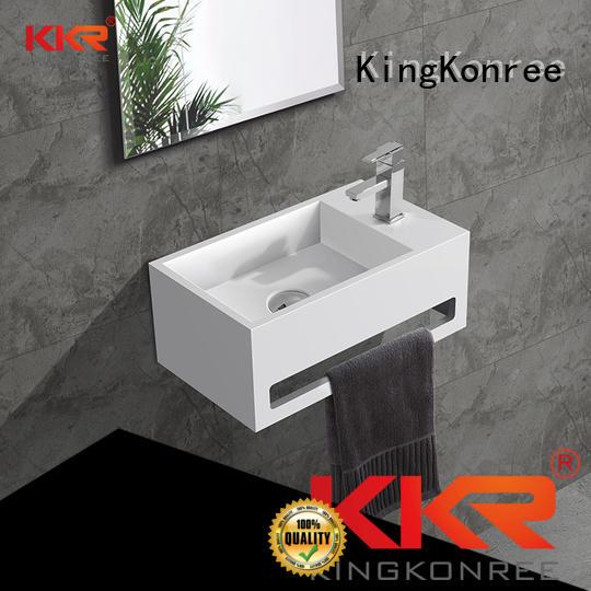 wall-hung surface sales OEM wall mounted wash basins KingKonree