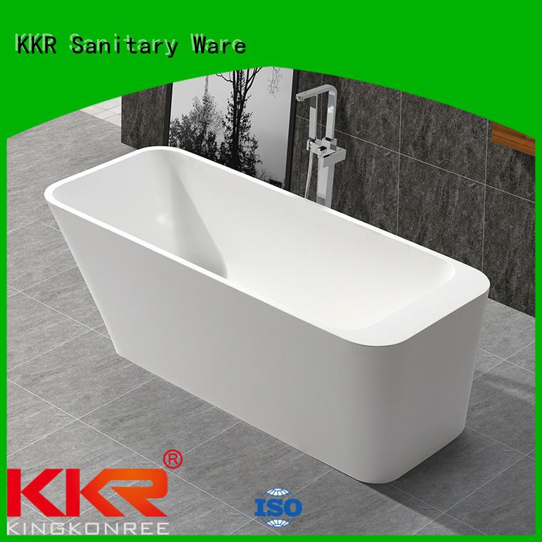 Quality KingKonree Brand bathroom storage solid surface bathtub