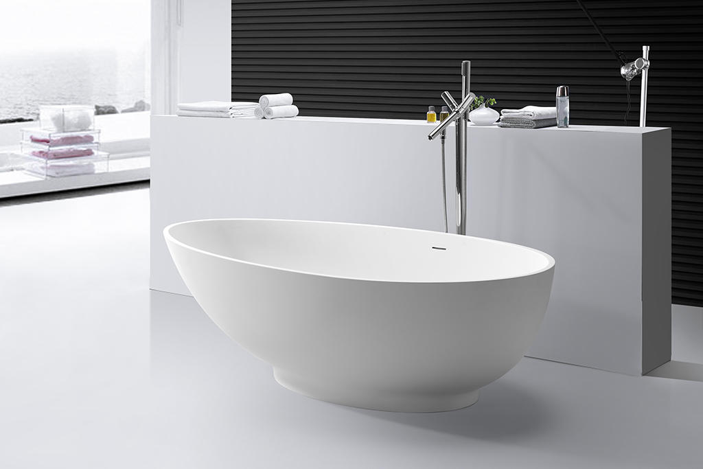 marble modern soaking tub ODM for hotel-1