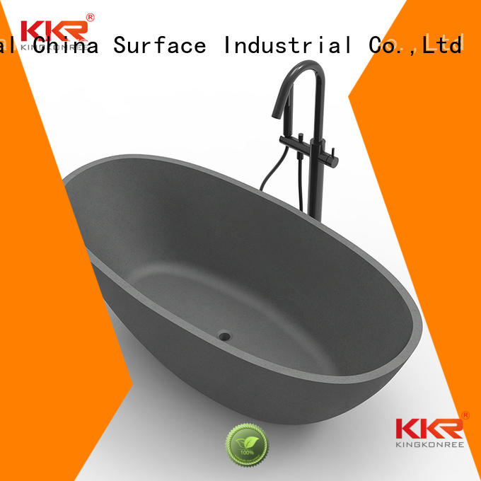 KingKonree Brand renewable royal Solid Surface Freestanding Bathtub