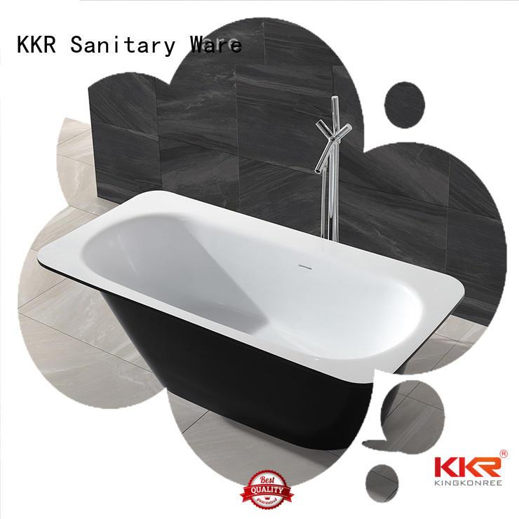 white rectangle Solid Surface Freestanding Bathtub acrylic standing KingKonree Brand
