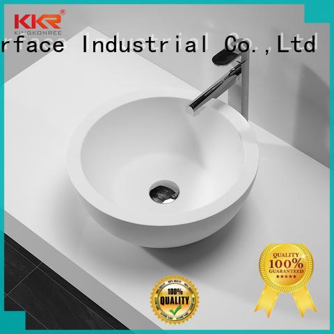 KingKonree standard small countertop basin design for hotel