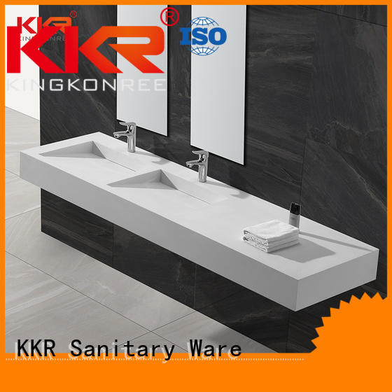 wall mounted bathroom basin modern mounted hanger Warranty KingKonree