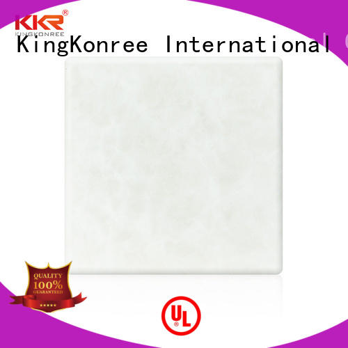 solid surface sheets white for bathroom KingKonree