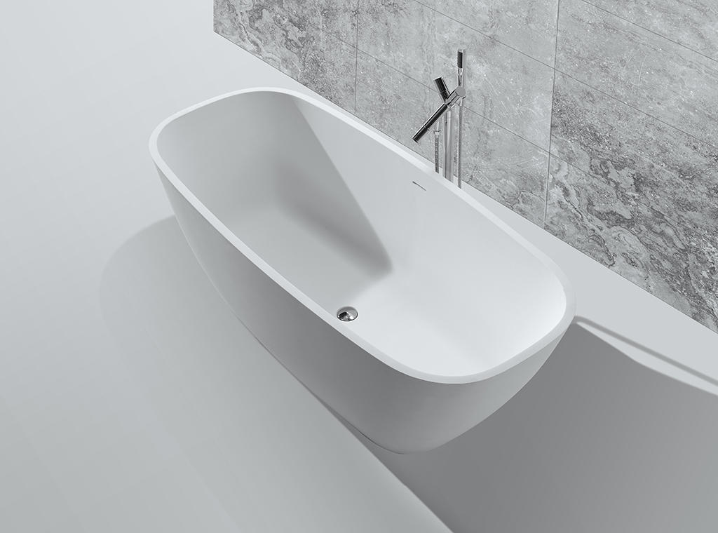 matt solid surface bathtub OEM for hotel-1