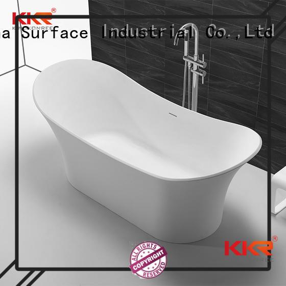bathroom storage OEM solid surface bathtub KingKonree