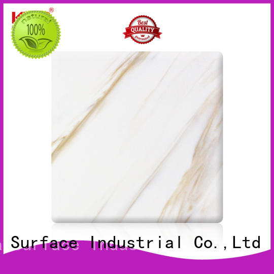 KingKonree white acrylic solid surface customized for indoors