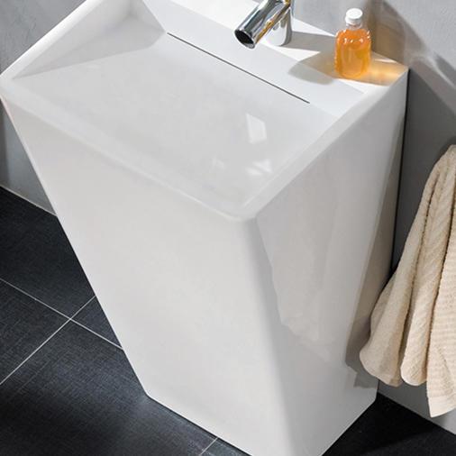 KingKonree rectangle stand alone bathroom sink design for hotel-3