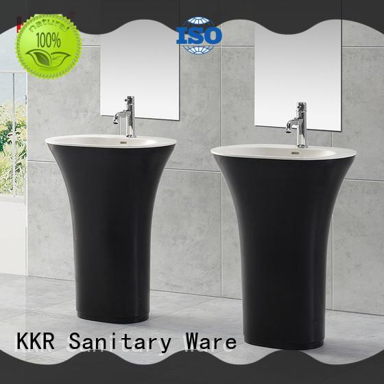 Italian freestanding pedestal basin factory price for home KingKonree