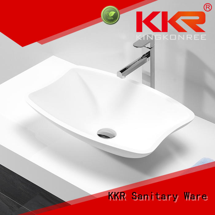 KingKonree Brand selling oval oval above counter basin sanitary supplier