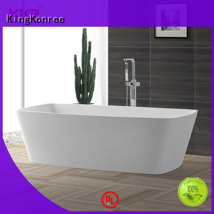 overflow free standing soaking tubs custom for bathroom KingKonree